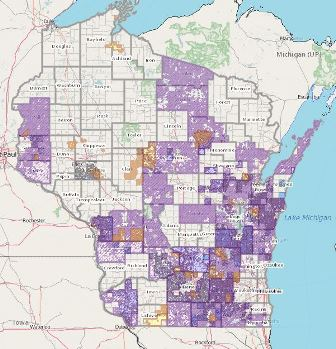 WI map links to interactive map