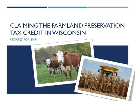 Farmland Preservation Tax Preparer Update 2018