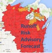 Link to runoff risk advisory forecast map