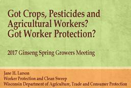 Cover slide for WPS PowerPoint presentation to ginseng growers